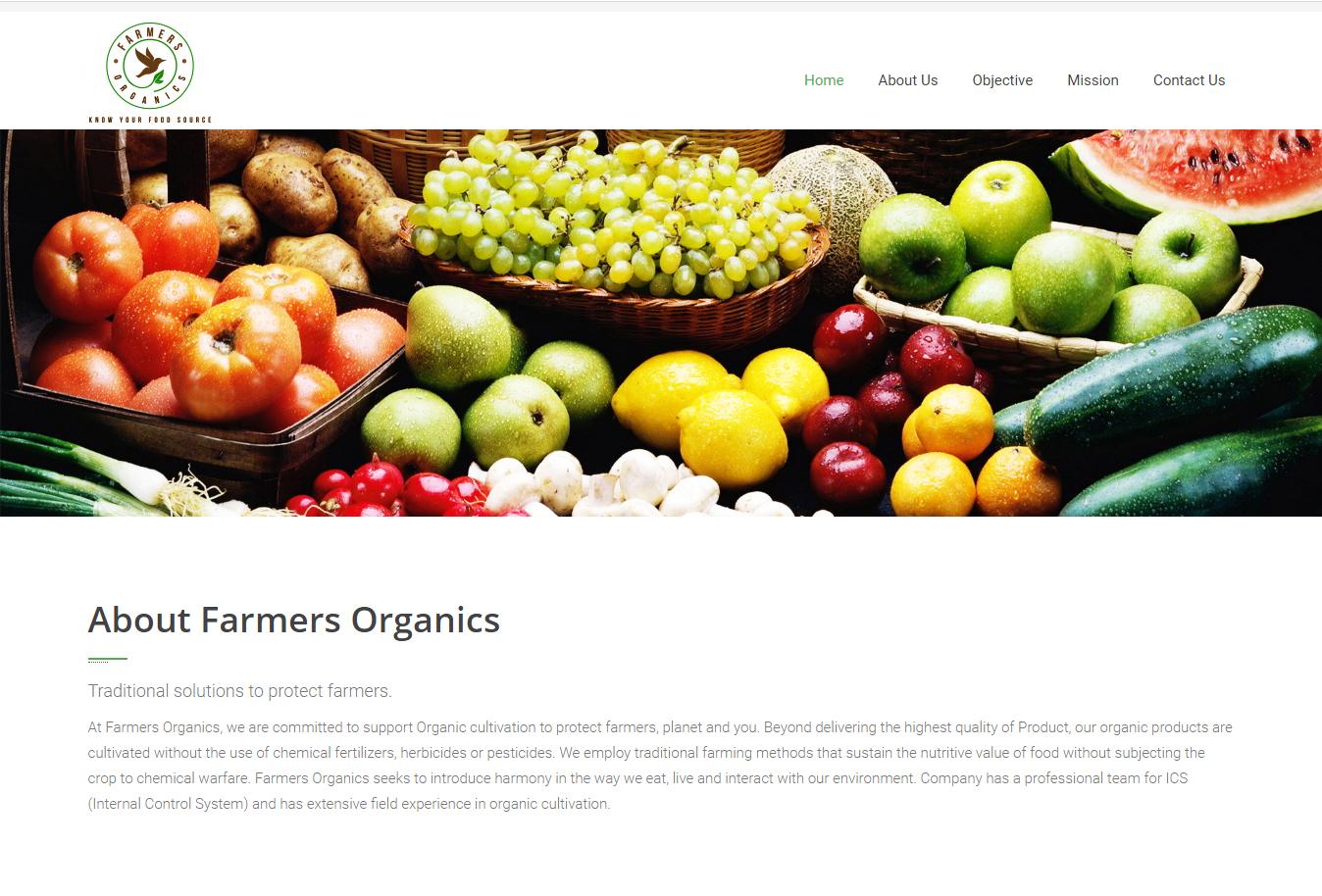 farmersorganics-web-design