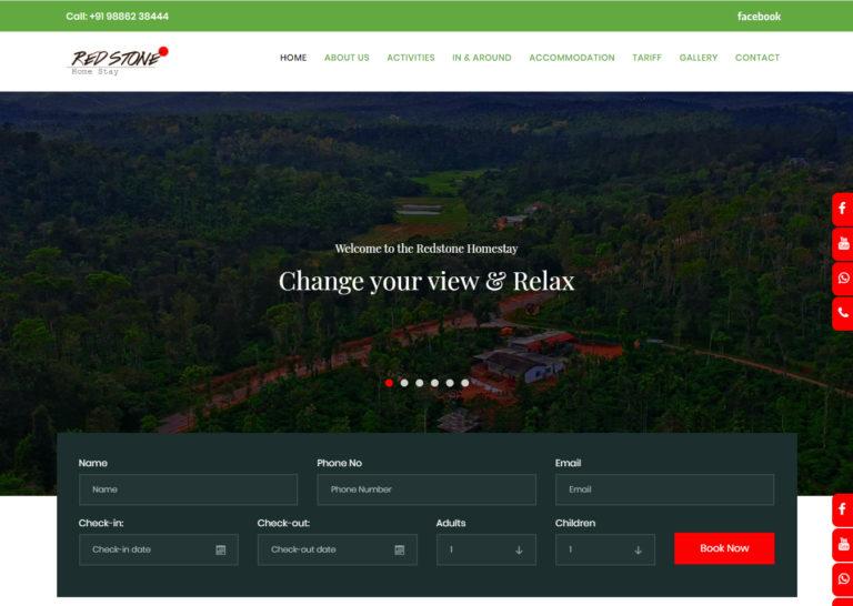 redstonehomestay-web-design